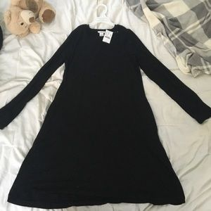 NWT black long sleeve tshirt dress